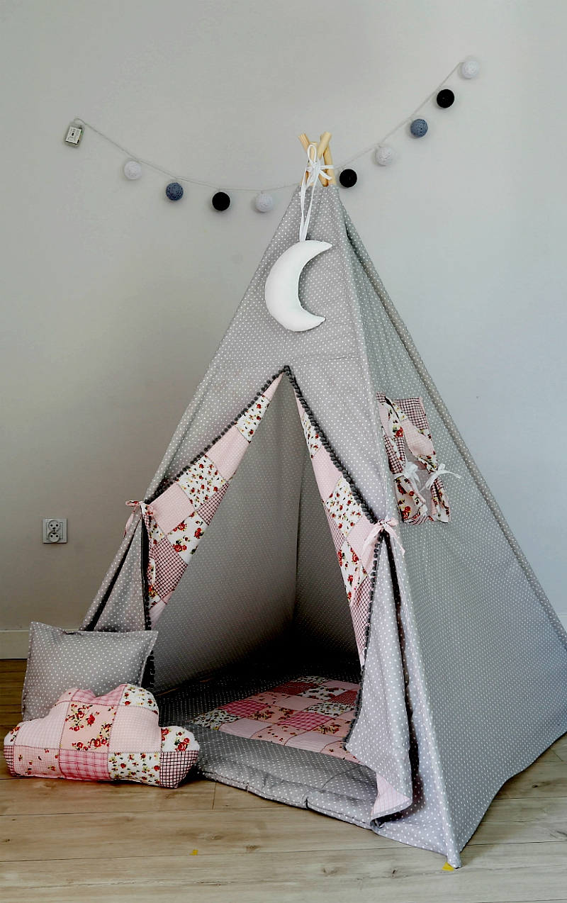 tipi spielzelt zelt f r kinder spielzelt mit tipidecke. Black Bedroom Furniture Sets. Home Design Ideas