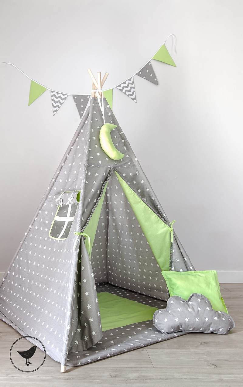 tipi spielzelt zelt f r kinder ohne kissen hangedeko und tipidecke. Black Bedroom Furniture Sets. Home Design Ideas